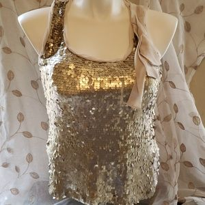 New York and. Company gold sequin t shirt